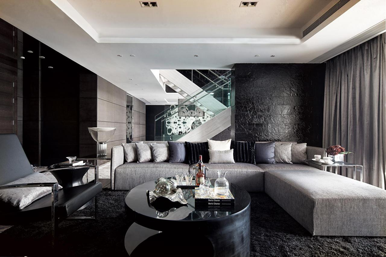 black and silver living room inspiration