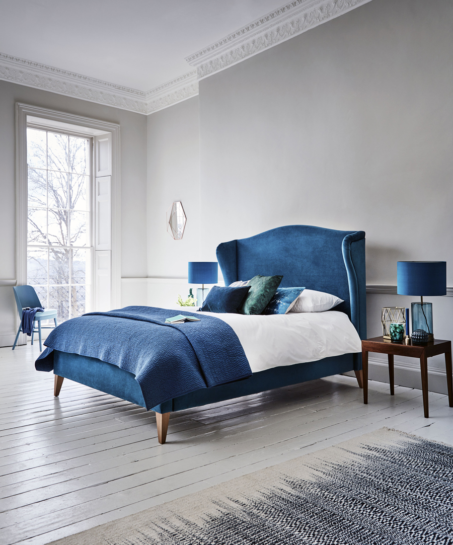 blue and grey bedroom inspiration