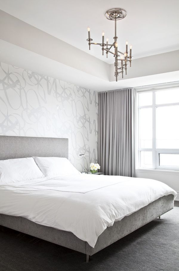 silver white grey bedroom design