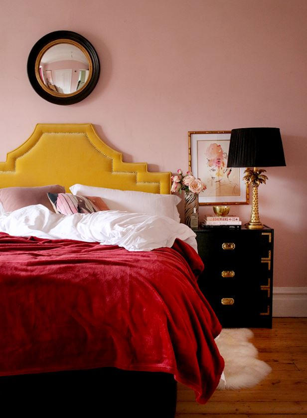 unique pink bedroom inspiration