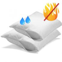 Flame Retardant & Waterproof Pillow Protector Pair