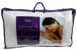 Hafco 2 Pack Goose Feather and Down Pillows