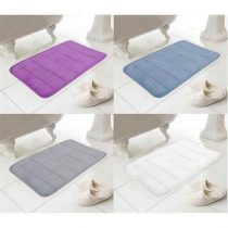 MEMORY FOAM BATH MATS PLAIN STRIPE