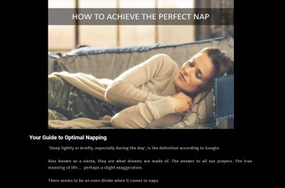 how to achieve the perfect nap blog collaboration