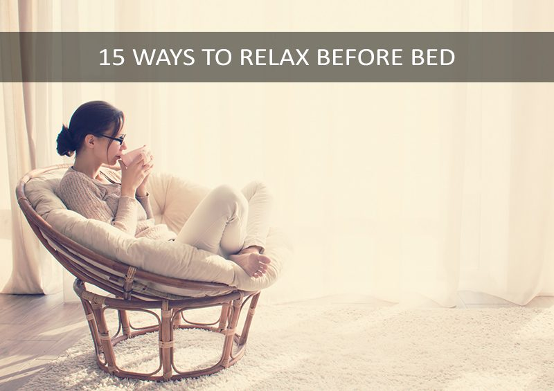 15 ways to relax before bed