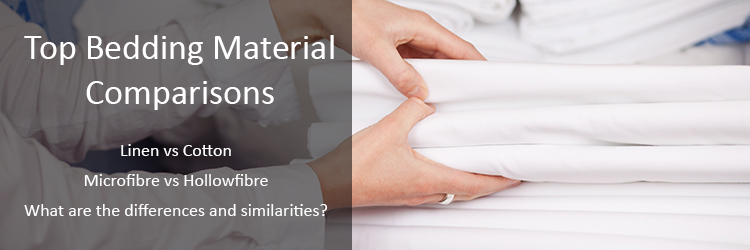 bedding material comparisons