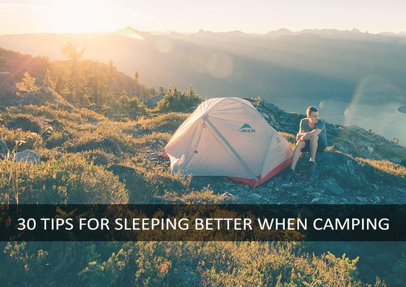 30 tips better sleep camping festivals